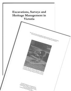 Excavations, Surveys and Heritage Management in Victoria (ESHMV)