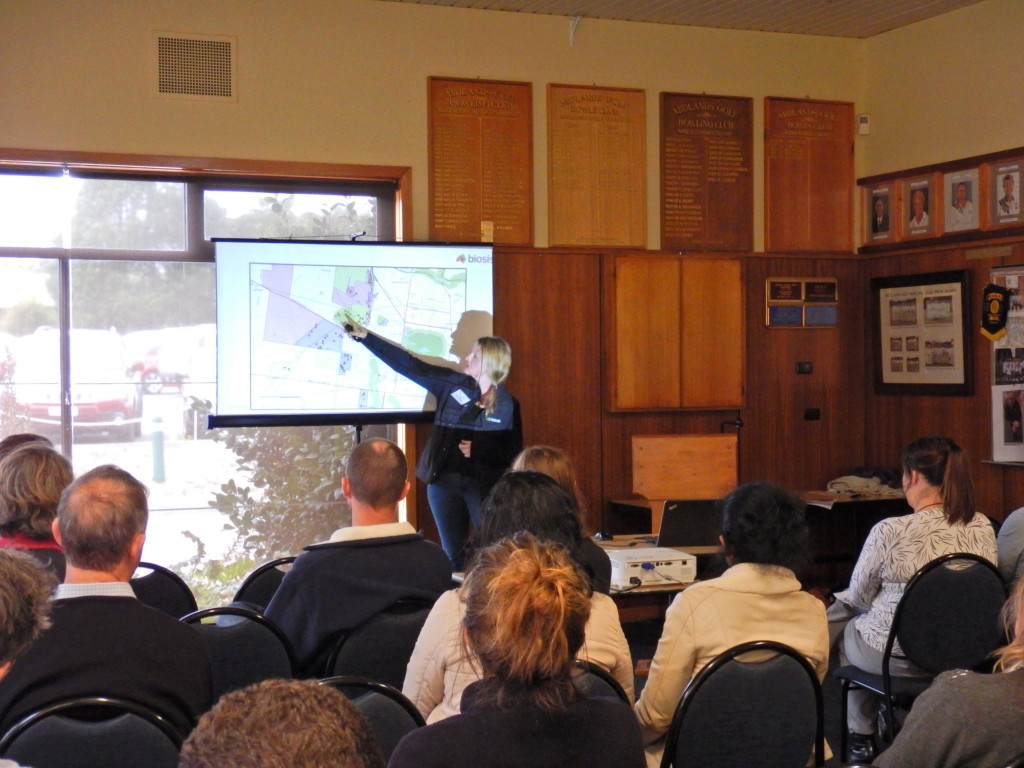 Amy Wood, Consultant Archaeologist, presenting to the Ballarat session