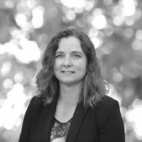 Black and white portrait of Samantha Keats, Heritage NSW Team Leader at Biosis